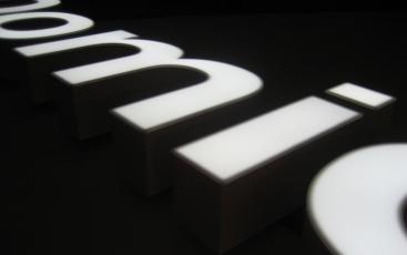 Изготовление световых букв